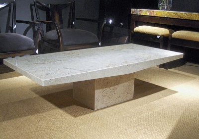 Stone International Roma Boat Edge Marble Occasional Tables
