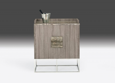 Stone International Tribeca Marble and Metal Bar Unit