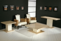 Stone International Venice Marble Occasional Tables