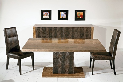 Stone International Venice Marble Dining Table