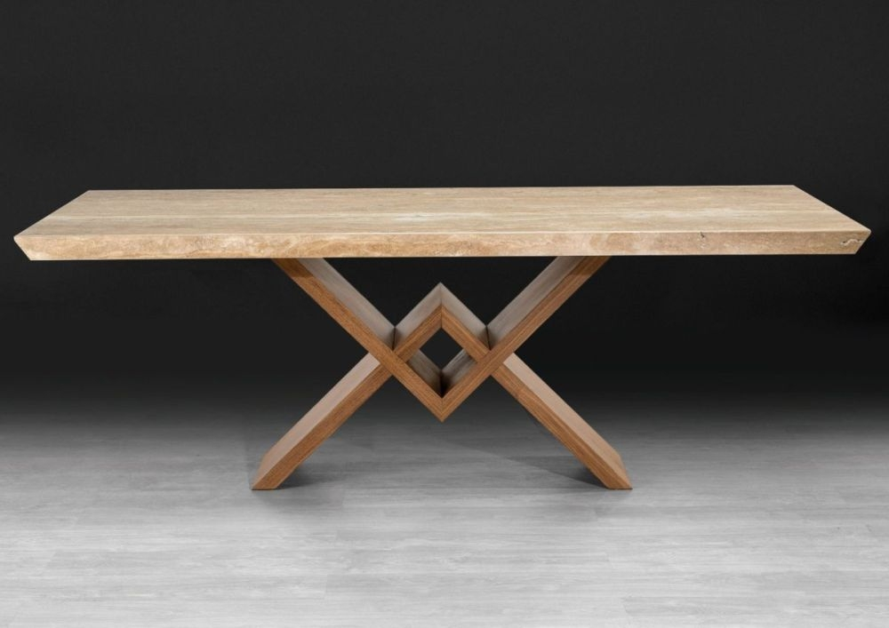 Stone International Victory Console Table - Marble and Wenge Wood