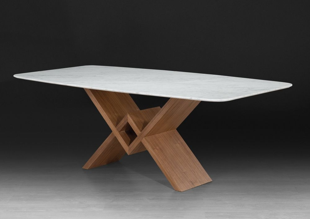 Stone International Victory Dining Table - Marble and Wenge Wood