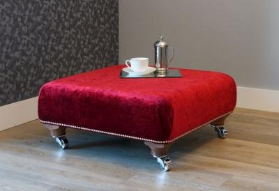 Stuart Jones Hampton Studded Lounge Stool