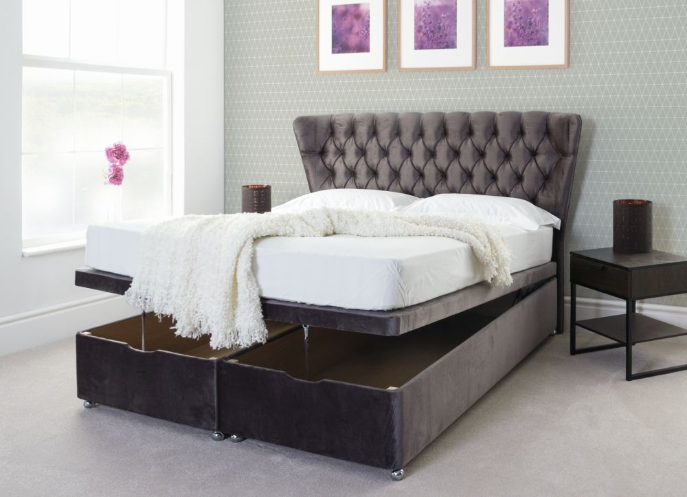 Fabric Ottoman Bed Base