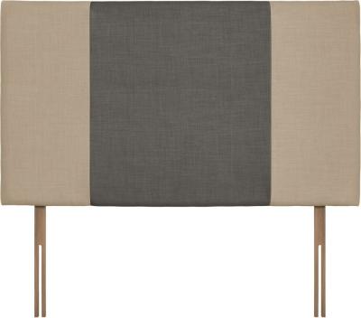 Seville Grand Beige and Slate Fabric Headboard