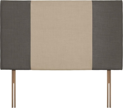 Seville Grand Slate and Beige Fabric Headboard