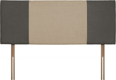 Seville Slate and Beige Fabric Headboard