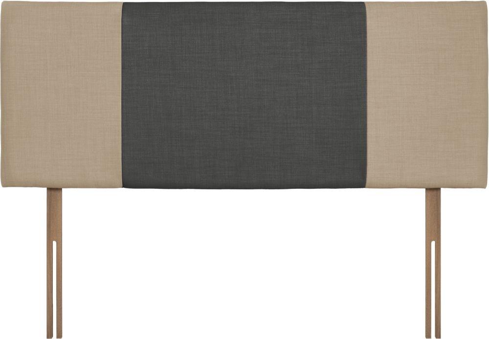 Seville Beige and Granite Fabric Headboard