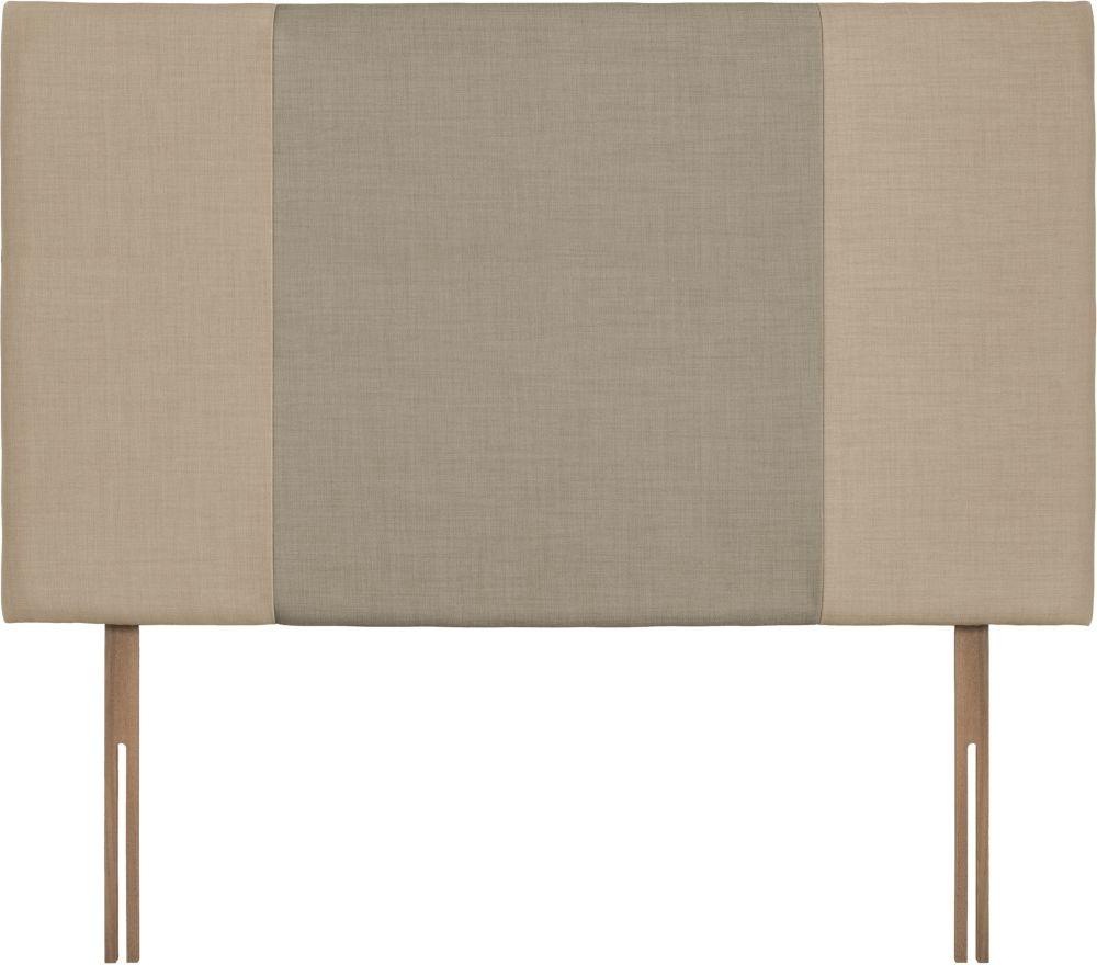 Seville Grand Beige and Fudge Fabric Headboard