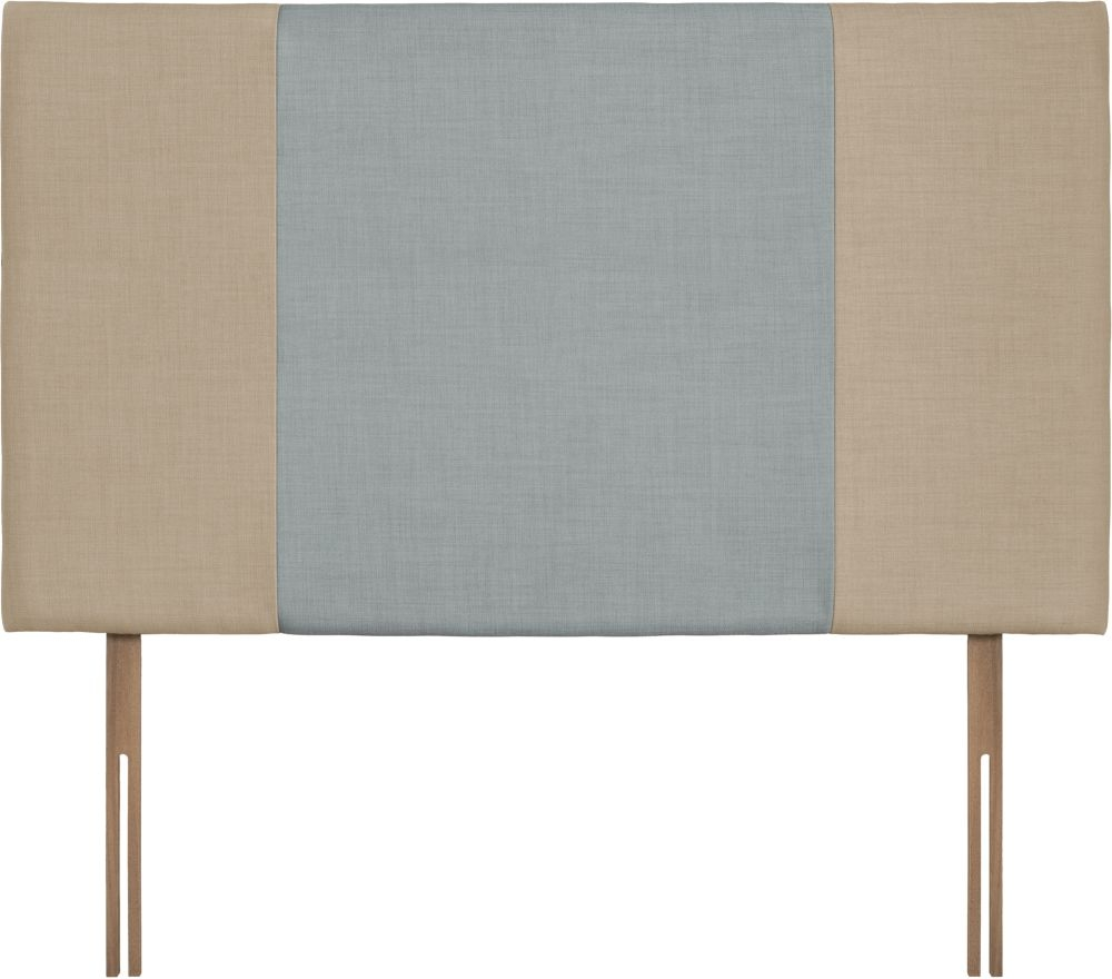 Seville Grand Beige and Sky Fabric Headboard