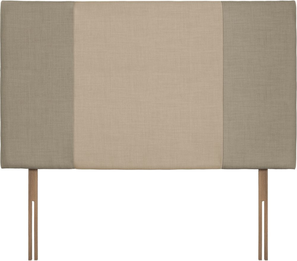 Seville Grand Fudge and Beige Fabric Headboard