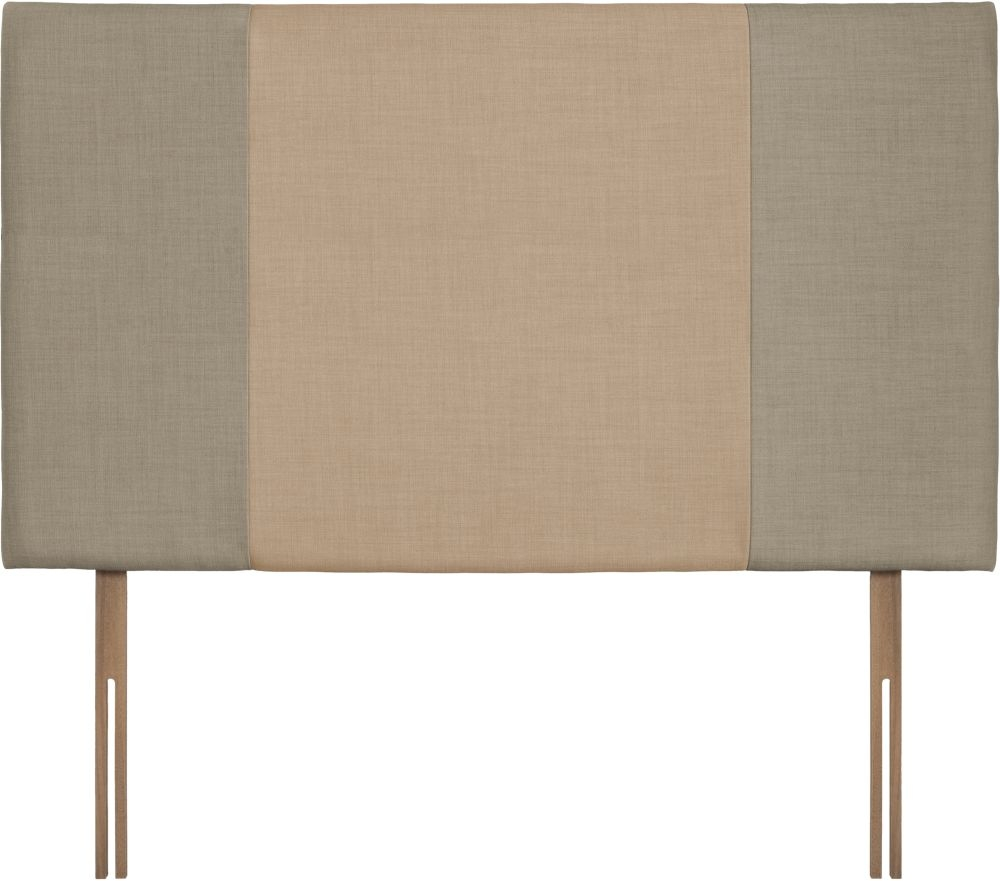 Seville Grand Fudge and Oatmeal Fabric Headboard