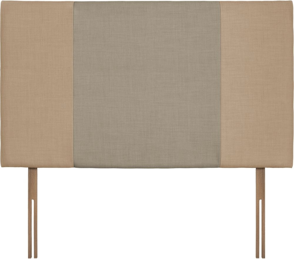 Seville Grand Oatmeal and Fudge Fabric Headboard