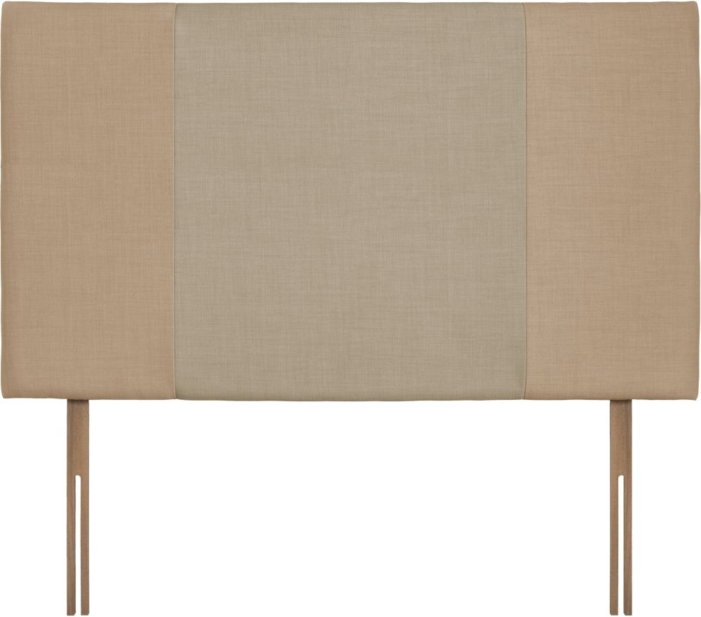 Seville Grand Oatmeal and Sand Fabric Headboard