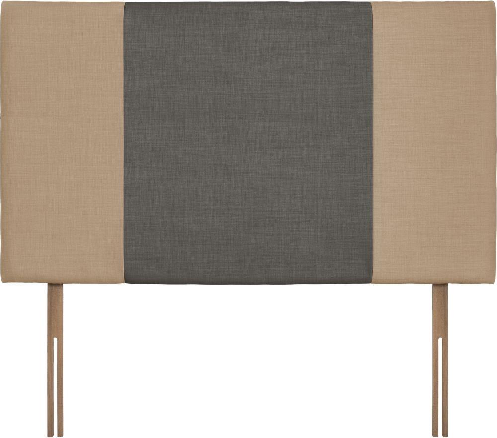 Seville Grand Oatmeal and Slate Fabric Headboard