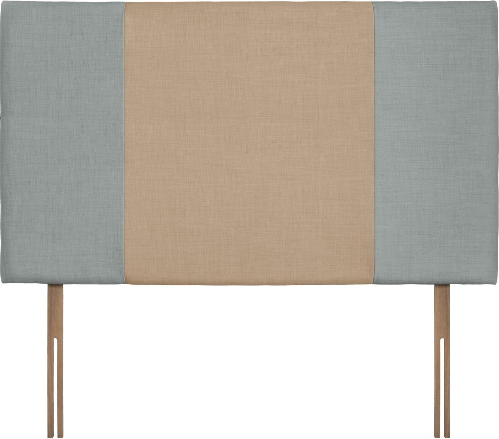 Seville Grand Sky and Oatmeal Fabric Headboard
