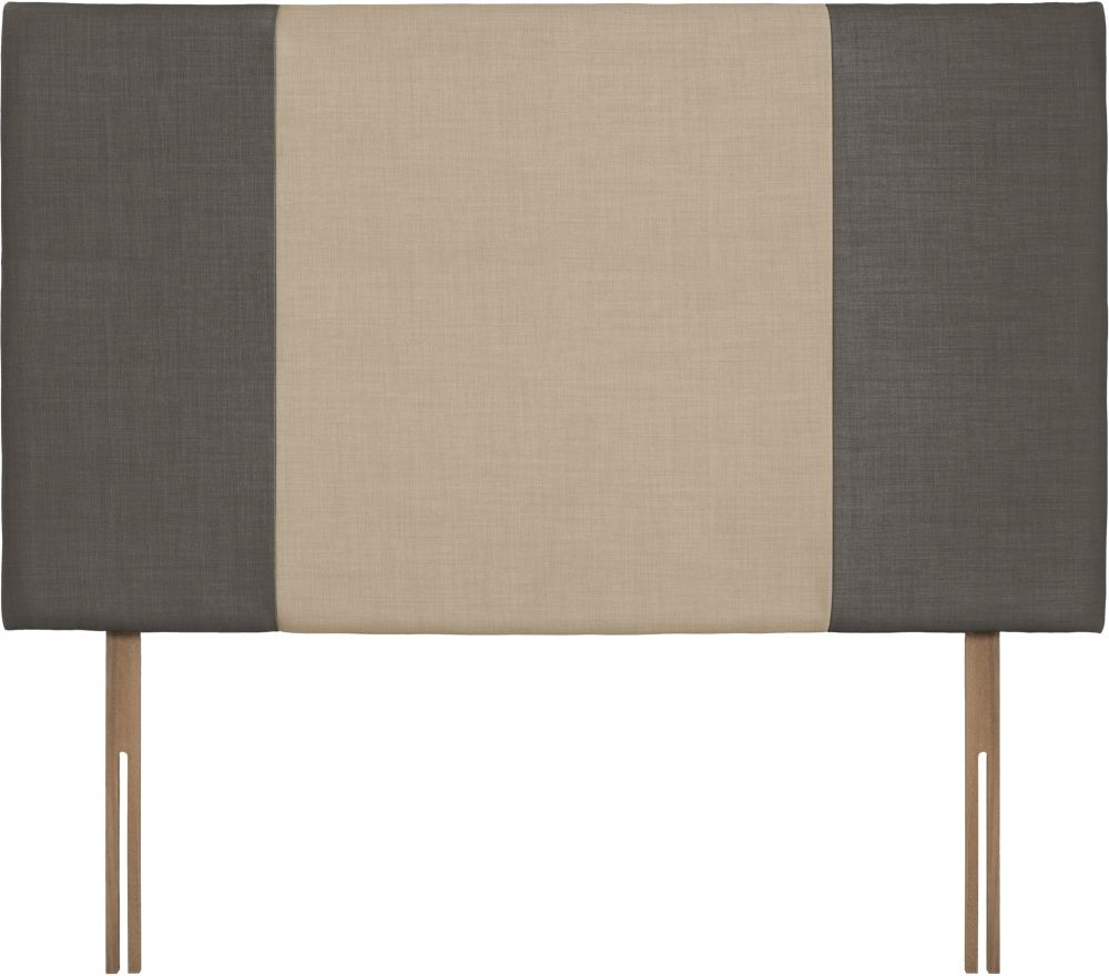 Seville Grand Slate and Beige Fabric Headboard