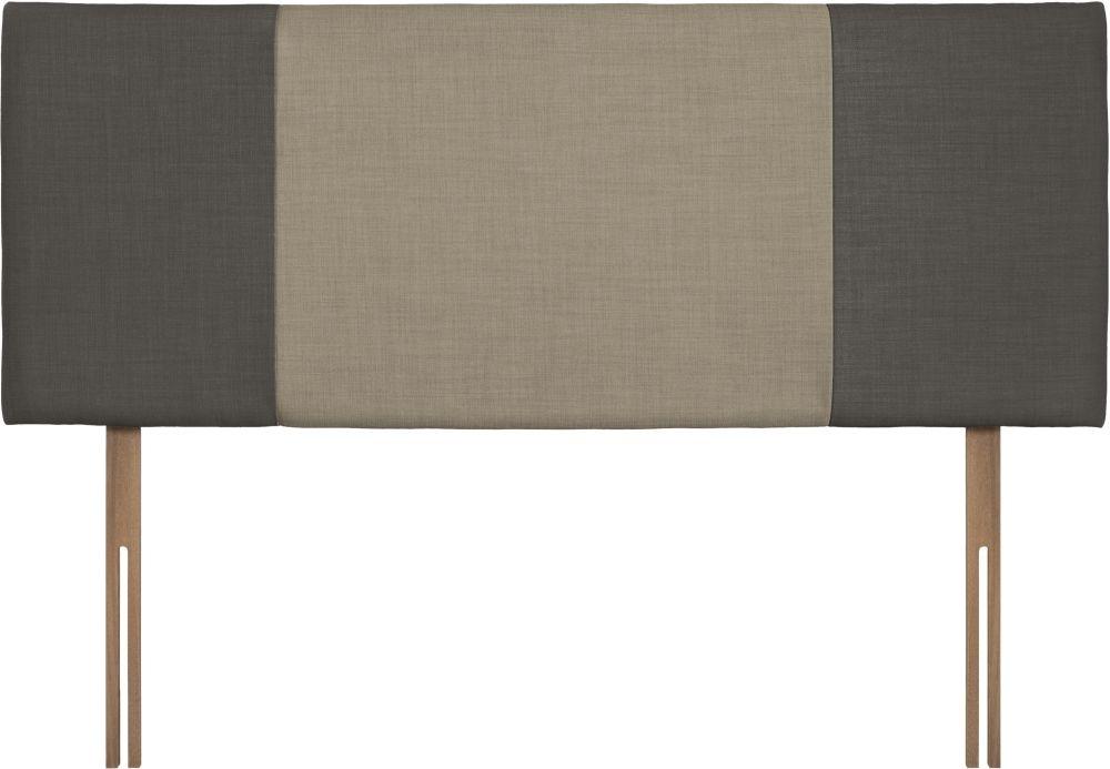 Seville Slate and Fudge Fabric Headboard