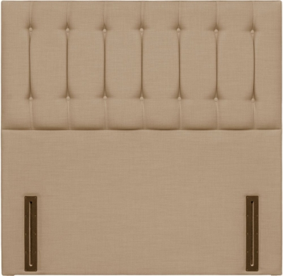 Tamar Grand Floor Standing Oatmeal Fabric Headboard