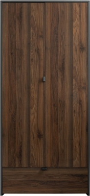 Sweet Dreams Boyd Walnut and Grey 2 Door Wardrobe