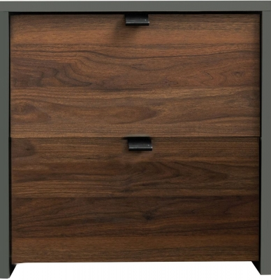 Sweet Dreams Boyd Walnut and Grey Bedside Cabinet