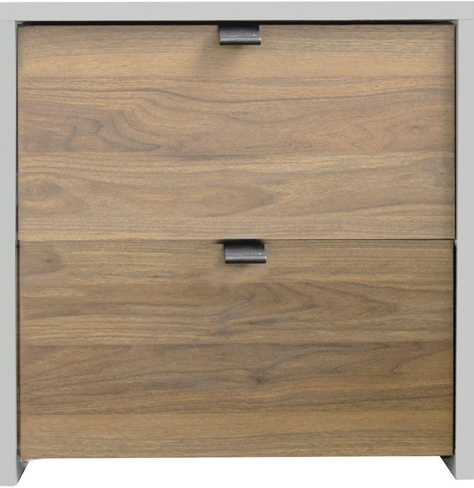 Sweet Dreams Boyd Oak and White Bedside Cabinet