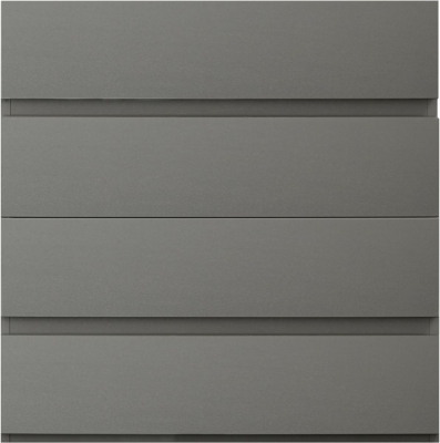 Sweet Dreams Carlyle High Gloss Grey 4 Drawer Chest