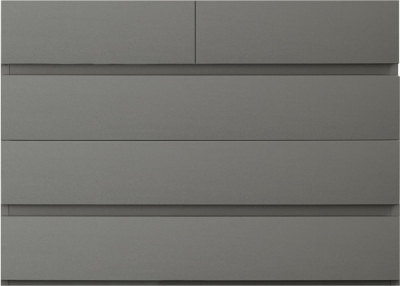 Sweet Dreams Carlyle High Gloss Grey 5 Drawer Chest