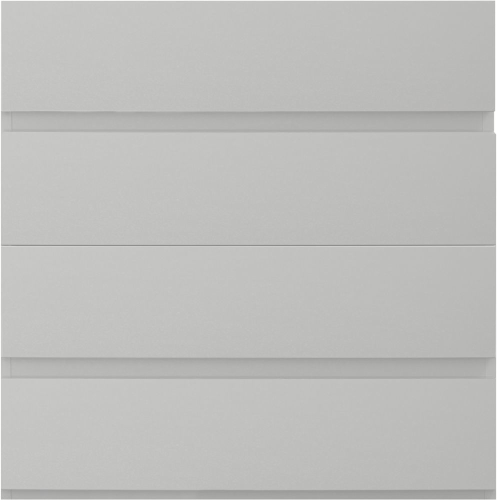 Sweet Dreams Carlyle High Gloss White 4 Drawer Chest