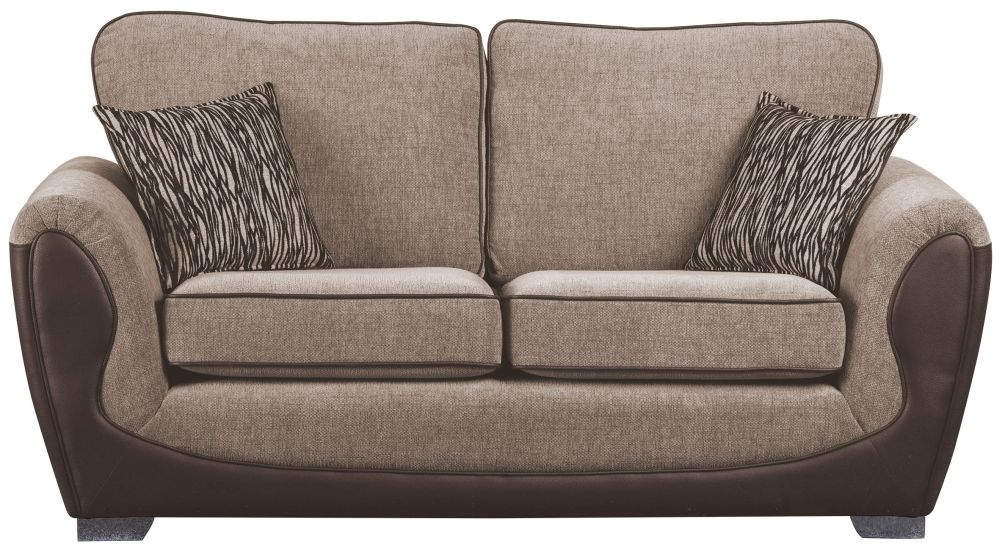Sweet Dreams Cassley 3 Seater Chocolate and Gold Fabric Sofa