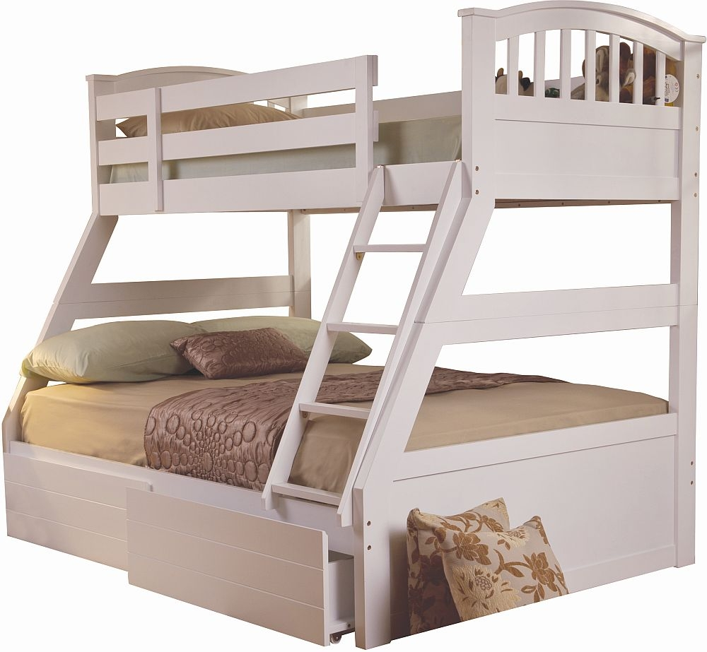 Sweet Dreams Epsom White Bunk Bed