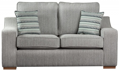 Sweet Dreams Clyde 3 Seater Silver Fabric Sofa