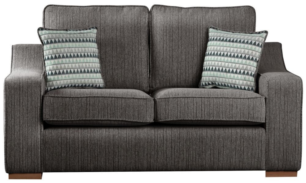 Sweet Dreams Clyde 2.5 Seater Black Fabric Sofa
