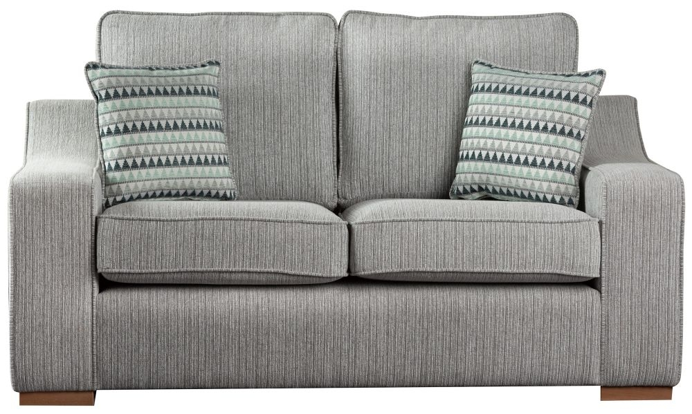 Sweet Dreams Clyde 2.5 Seater Silver Fabric Sofa