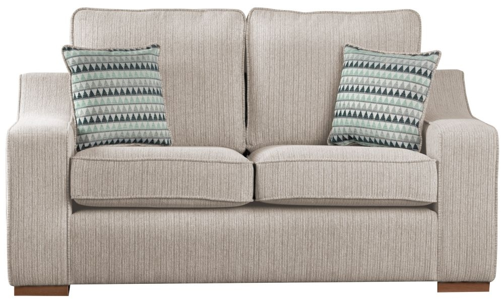 Sweet Dreams Clyde 3 Seater Beige Fabric Sofa