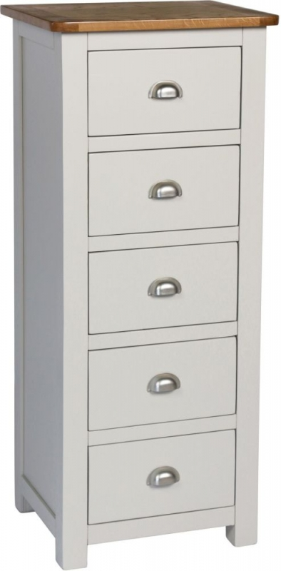 Sweet Dreams Cooper Grey 5 Drawer Tallboy Chest