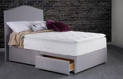 Sweet Dreams Maddie Wool 1000 Pocket Sprung Edge Divan Bed Set
