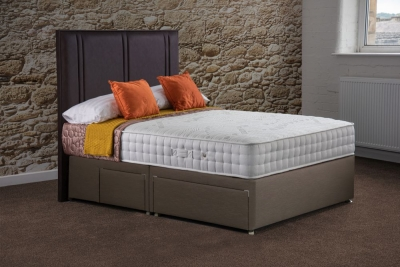 Sweet Dreams Sapphire Memory 1000 Pocket Sprung Platform Top Divan Bed Set