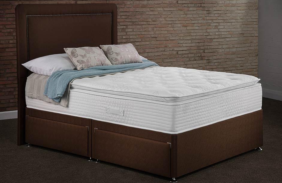 Sweet Dreams Calm Rest Silk 1000 Pocket Sprung Ottoman Divan Bed Set