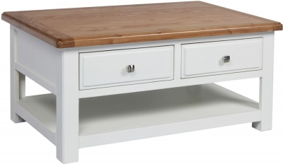 Sweet Dreams Dorset Oak and Painted 2 Drawer Coffee Table
