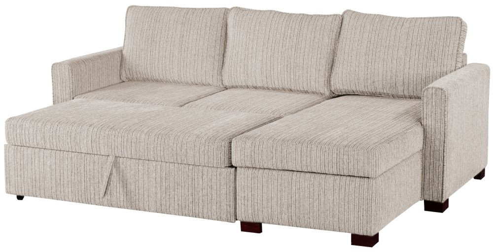 Sweet Dreams Medway Voghera Beige Fabric Corner Sofabed with Storage
