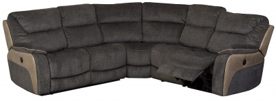 Sweet Dreams Waterloo Deluxe Fawn Fabric Corner Recliner Sofa