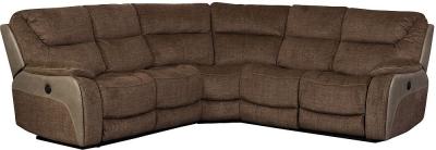 Sweet Dreams Waterloo Deluxe Grey Fabric Corner Recliner Sofa