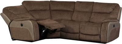 Sweet Dreams Waterloo Fawn Fabric Corner Recliner Sofa