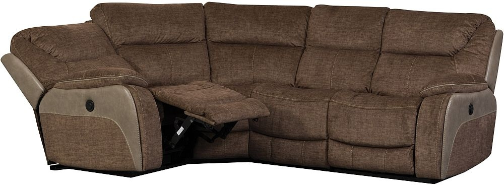 Sweet Dreams Waterloo Fawn Fabric Corner Recliner Sofa