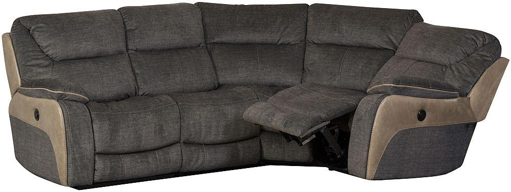 Sweet Dreams Waterloo Grey Fabric Corner Recliner Sofa