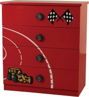 Sweet Dreams Formula Blistering Red 4 Drawer Chest