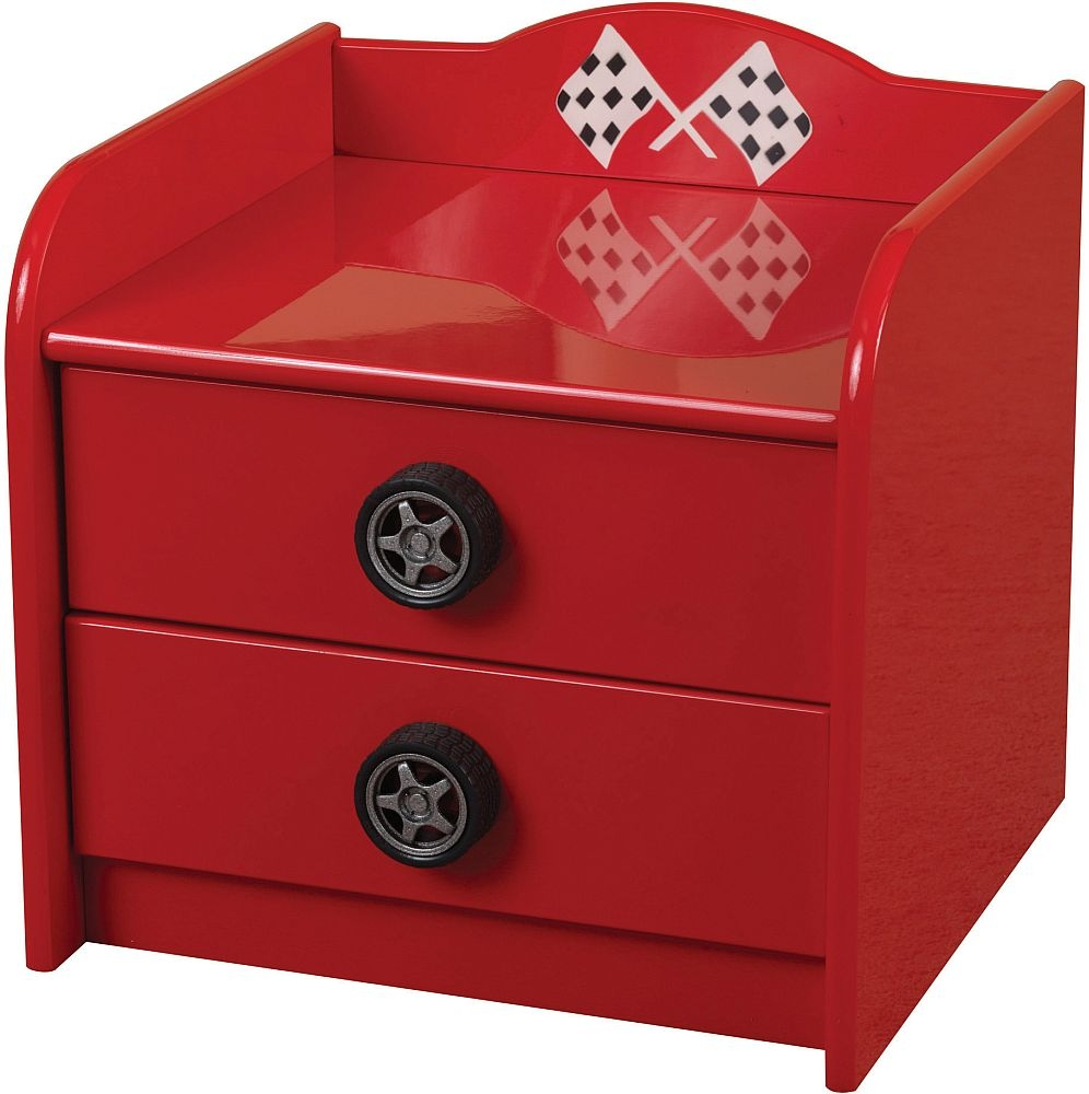 Sweet Dreams Formula Blistering Red Bedside Cabinet