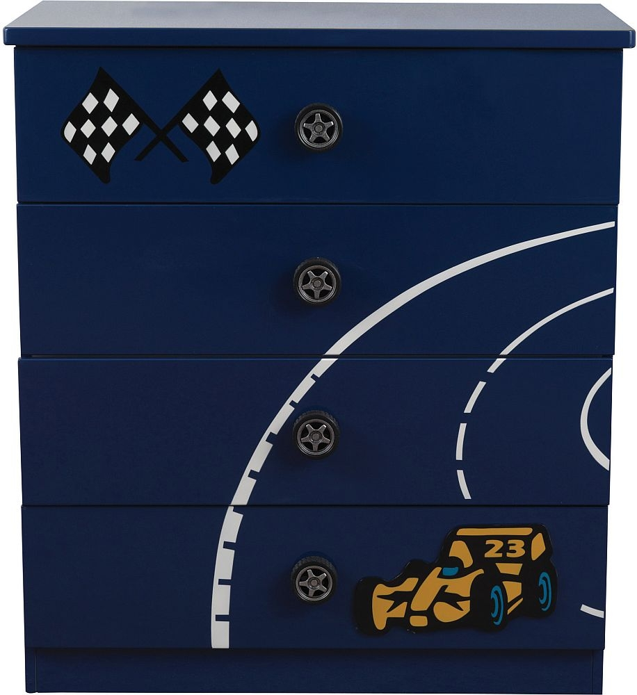 Sweet Dreams Formula Scorching Blue 4 Drawer Chest