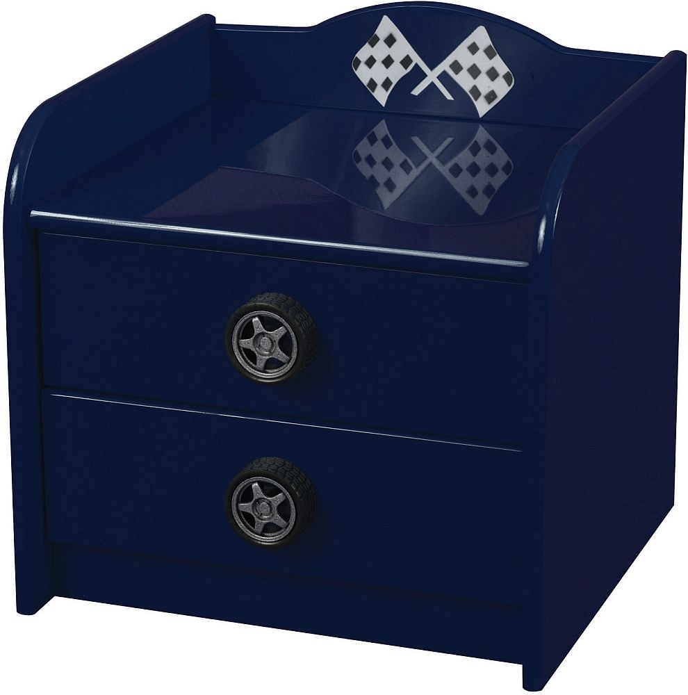 Sweet Dreams Formula Scorching Blue Bedside Cabinet